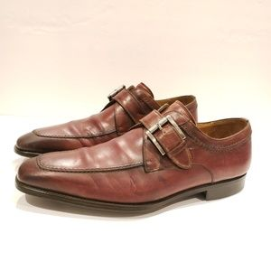 Magnanni mens size 9 m monk strap dress shoe